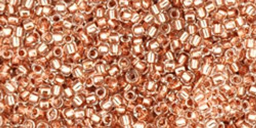 Toho Seed Beads 15/0 Rounds Copper-Lined Crystal