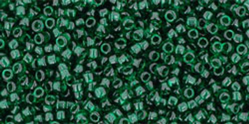 Toho Seed Beads 15/0 Rounds Transparent Green Emerald