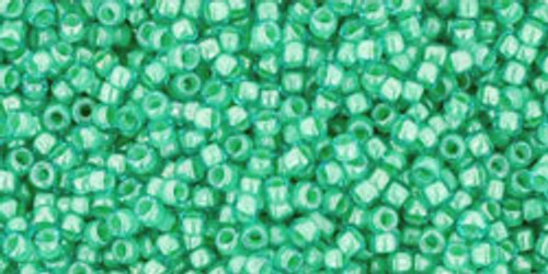 Toho Seed Beads 15/0 Rounds In-Aqua/Light Jonquil Lined