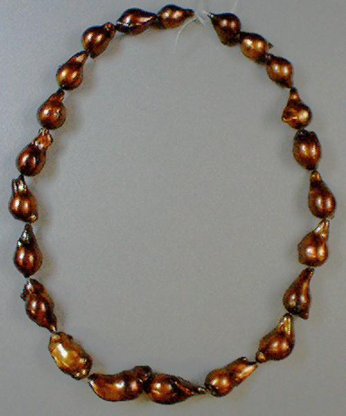 Enhanced Potato Pearls #5 11-12 mm Dark Copper AA++