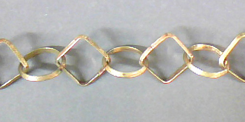 Copper Chain #14 Brass Finish 18mm Circle & Squares 300 mm, 1', 12""