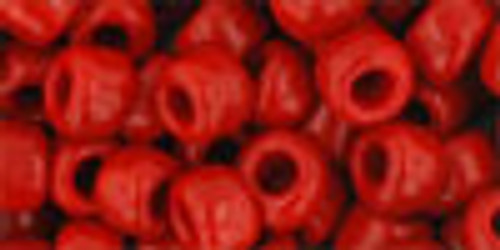 Toho Seed Beads 3/0 Rounds Opaque Pepper Red 8 Gram Tube