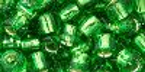 Toho Seed Beads 3/0 Rounds Silver Lined Peridot 20 grams