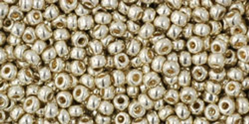 Toho Seed Beads 11/0 Rounds Permanent Finish Galvanized Aluminum