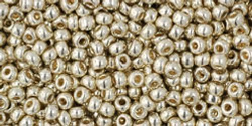 Toho Seed Beads 11/0 Rounds Permanent Finish Galvanized Aluminum