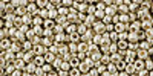 Toho Seed Beads 11/0 Rounds #5 Permanent Finish Galvanized Aluminum 50 gram TR-11-PF558