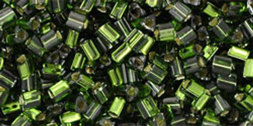 TOHO Seed Beads Triangles 11/0 Silver-Lined Olivine