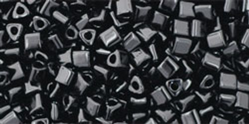 TOHO Seed Beads Triangles 11/0 Opaque Jet