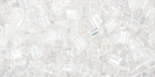 TOHO Seed Beads Triangles 11/0 Trans-Rainbow Crystal