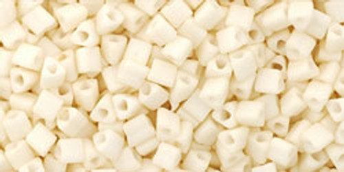TOHO Seed Beads Triangles 11/0 Opaque-Pastel-Frosted Egg Shell