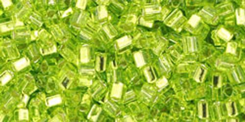 TOHO Seed Beads Triangles 11/0 Silver-Lined Lime Green