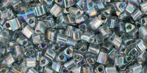 TOHO Seed Beads Triangles 11/0 Transparent Rainbow Gray