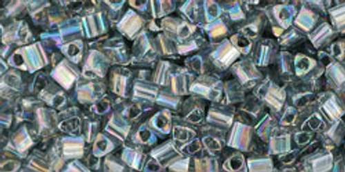 TOHO Seed Beads Triangles 11/0 Transparent Rainbow Gray