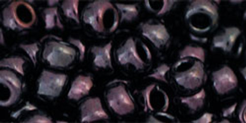 TOHO Seed Beads 6/0 Rounds Metallic Amethyst Gun Metal