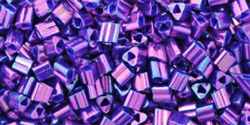 TOHO Seed Beads Triangles 11/0 Higher-Metallic Grape