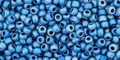Toho Bead 11/0 Round #13 Higher Metetallic Frosted Mediterranean Blue 50g