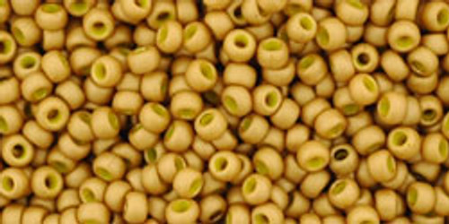 Toho Beads 11/0 Round #15 Opaque Frosted Gold Lustered Yellow 50g