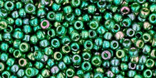 Toho Seed Beads 11/0 Rounds #26 Gold-Lustered Emerald 50 Grams