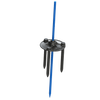 The MegaPlate was designed specifically for heavy clusters of ground-mounted balloons that require enhanced stabilization in a variety of different landscaping conditions. Anodized metal Ground Spike is included in this kit.
