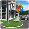 Get the added attention your apartment community needs with Cluster Pole Kits! With your choice of colored balloons, this best selling Cluster Kit easily stops traffic with its vibrant colors and curb-appeal.  Kit stands approximately 7'7""