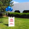 Get the added attention your property needs with 3-DuraBalloon® Balloon-A-Sign® Kits! With your choice of 3 DuraBalloon® helium-free balloons, this top-selling Cluster Kit easily installs on your angled Signicade® sign to stop traffic with its vibrant colors and curb-appeal.  Just hinge, clip, pin and you're done!