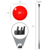 """Each 3-DuraBalloon® Balloon-A-Sign® Kit includes 3 - DuraBalloon® helium-free balloons, 3 - Upper Holding Cups, 3 - 30"""" Flexible Fiberglass Push-Button Stems with Security Screw and 1 - Signicade® Bracket.  Signicade® is NOT included."""