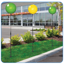 "Get increased visibility to your property, dealership, apartment community or business throughout your parking lot or sidewalk area with our Long Pole Kit! With the balloon colors of your choice this kit will add extra attention to your property in a big way! (Kit stands approximately 7'7"")"