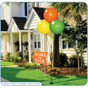 "With your choice of three eye-catching reusable balloons, this kit is sure to draw attention to your apartment community, dealership or business from the sidewalk and the streets! The 3-Balloon Cluster Pole Kit is a lightweight and economical alternative to our top selling 5-Balloon Cluster. It stands at the same height of 7'7"" and is made of the same weather-resistant plastic!"