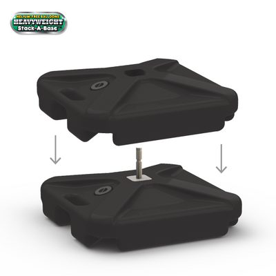 Our DuraBalloon® DOUBLE WEIGHTED BASES are easy to use to display your DuraBalloons on concrete, cement or any other hard surface.  Fill with sand for maximum weight to stabilize your DuraBalloon Cluster Kits.