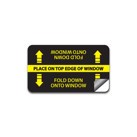 This protective cling sticks on and removes extremely easily, protecting your window from any damage or wear from the hardware of the Adjustable Car Window Kit over time.