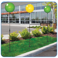 """Get increased visibility to your property, dealership, apartment community or business throughout your parking lot or sidewalk area with our Long Pole Kit! With the balloon colors of your choice this kit will add extra attention to your property in a big way! (Kit stands approximately 7'7"""")"""