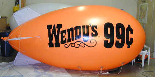 13-FOOT BLIMP SHAPE - ONE COLOR ARTWORK