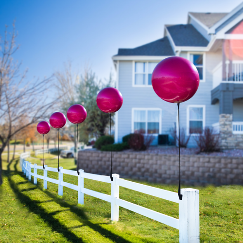 DuraBalloon® Vertical Bracket Kit, made to stand straight up on the top of any sign, fence, downpost, railing or structure.