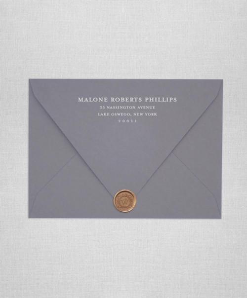 Envelope Address Lines Botanical 3