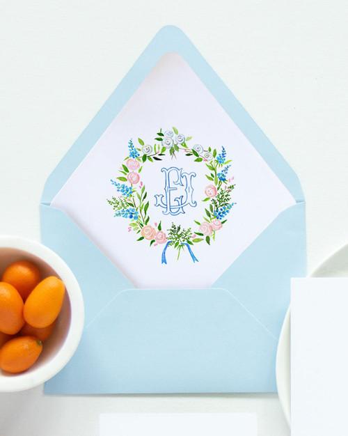 Lined Envelopes | Custom Watercolor Crest Liner