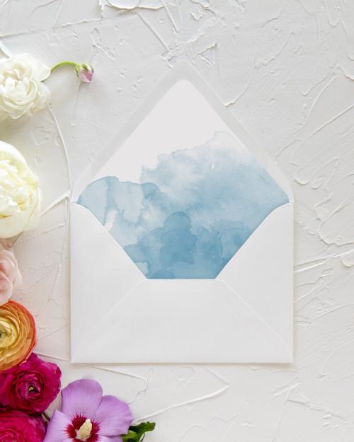 Lined Envelope | Watercolor Ombré Liner