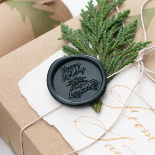 Happy Holidays Wax Seals - 25 Pack