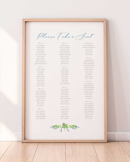 Seating Chart Sign | Ellie Collection