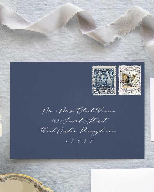 Grace Envelope Addressing | White Ink