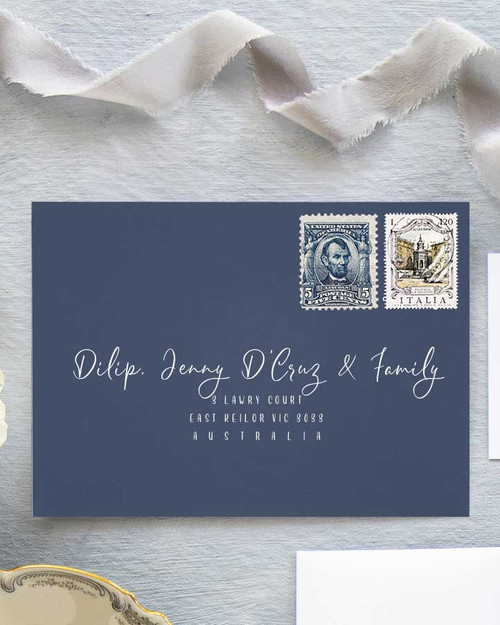 Magnolia Envelope Addressing | White Ink