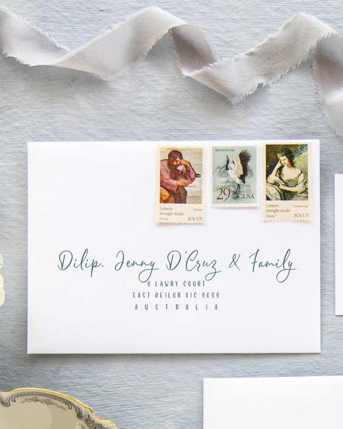 Magnolia Envelope Addressing | Color Ink