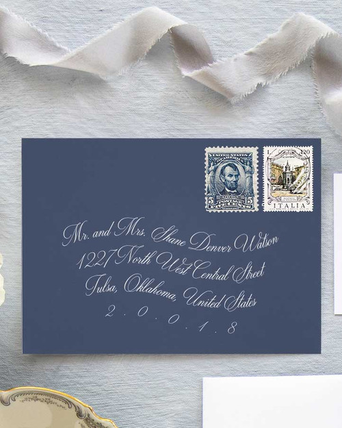 Roosevelt Envelope Addressing | White Ink