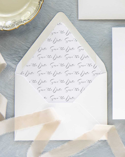 Lined Envelopes | Custom Quote Watercolor Liner