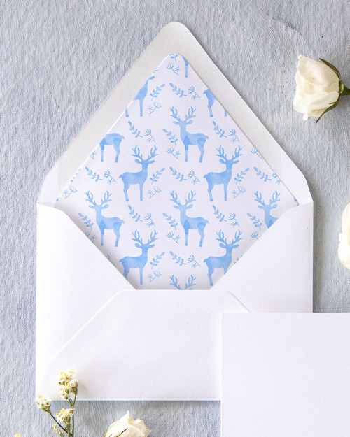 Lined Envelopes | Custom Pattern Watercolor Liner