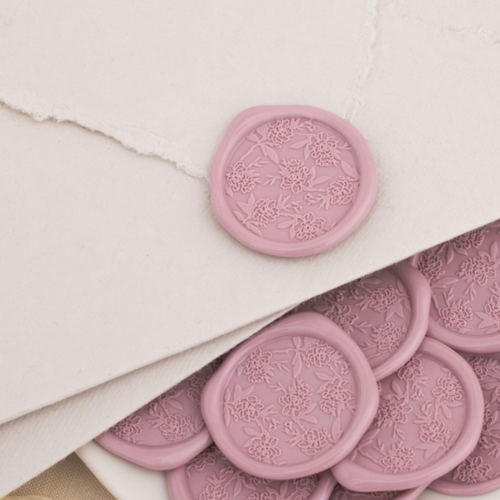 Tea Rose Wax Seals - 25 Pack