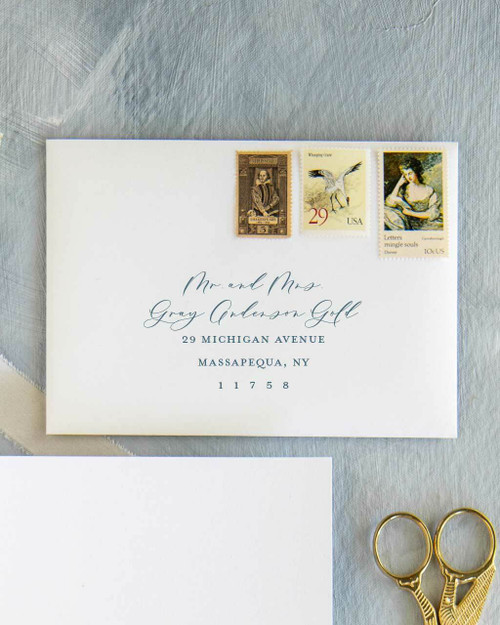 Custom envelope addressing, guest digital addressing