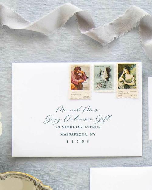 Custom envelope addressing, guest addressing, color digital ink