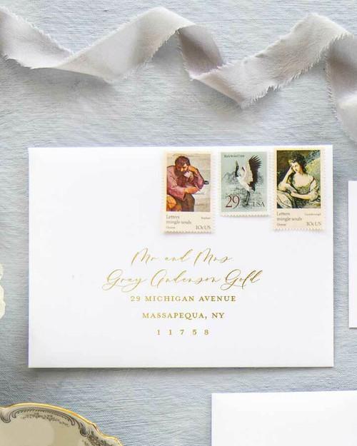 Sample Gold Ink Envelope Addressing