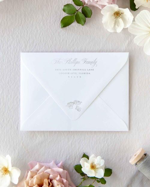 Barry Envelope Addressing | Silver Ink
