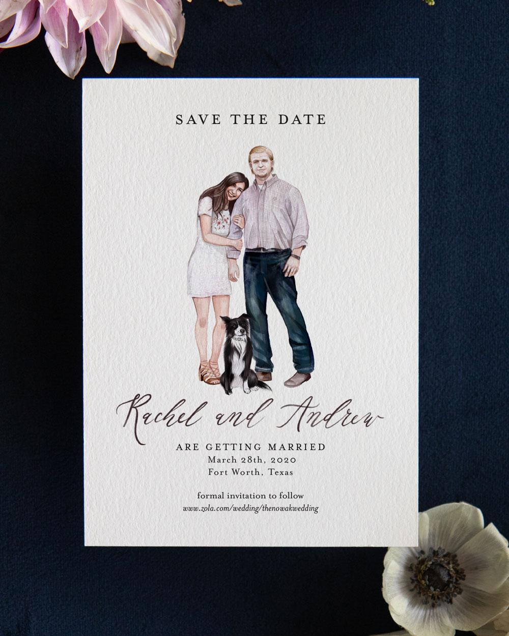 Custom Portrait Save the Dates
